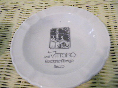 COLLECTIBLE  OFF WHITE CHINA  Da O Vittorio  RISTORANTE  ASH TRAY md in GERMANY