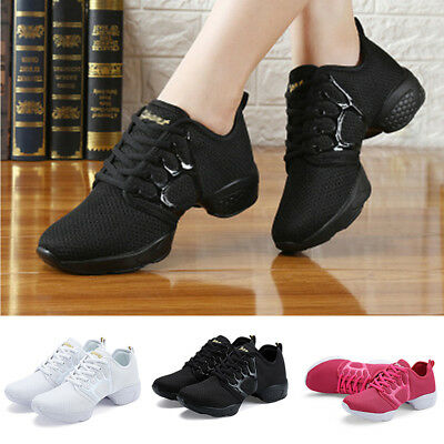 Women Lady Trendy Athletic Sneakers Modern Jazz Hip Hop Dance Running Shoes Size