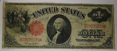 1917 $1 United States Note Horse Blanket Red Seal Old Paper Money 22