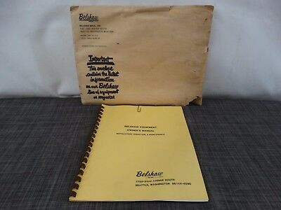 Belshaw Equipment Doughnut Machine Model N Variety Cutter Owner's Manual /F2
