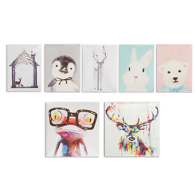 Unframed Canvas Print Abstract Animals Painting Picture Wall Mural Art Decor