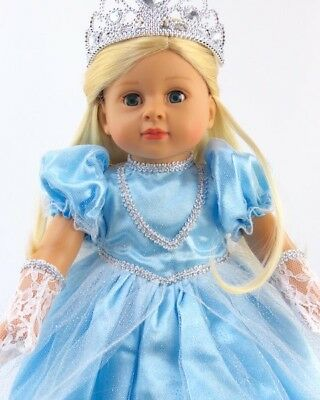 Frozen Cinderella Princess Gown Dress Set for 18 inch American Girl Doll Clothes