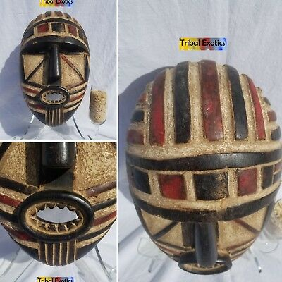 ELEGANT AUTHORITATIVE Polychrome Mask Figure Sculpture Statue Fine African Art