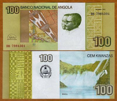 Angola, 100 Kwanzas, 2012 (2017), P-153-New, New 2017 Sign., UNC