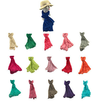 Job Lot of 50PCS Ladies Scarf Best ReSeller 15 Plain Colours Large Size Cotton**
