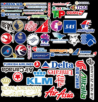 Airline Stickers Vinyl Skateboard Guitar Travel Case sticker pack decals AU
