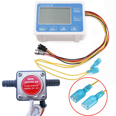 LCD Liquid Digital Fuel Oil Flow Meter + 13mm Diesel Gasoline Gear Flow Sensor