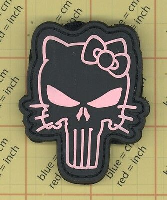 PVC PINK HELLO Kitty Punisher USA AMERICA ARMY SKULL PATCH