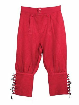 Tortuga Pirate Pants - Red (L/XL) Pirate, Halloween or Renaissance Costume
