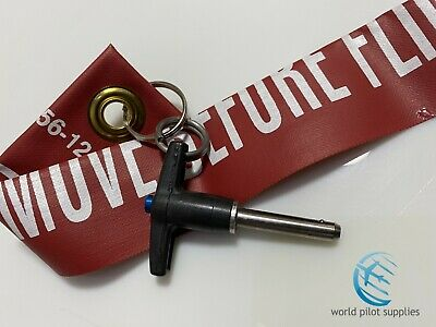 AIRBUS STEERING BYPASS PIN w/ REMOVE BEFORE FLIGHT FLAG fits all A300 thru A380