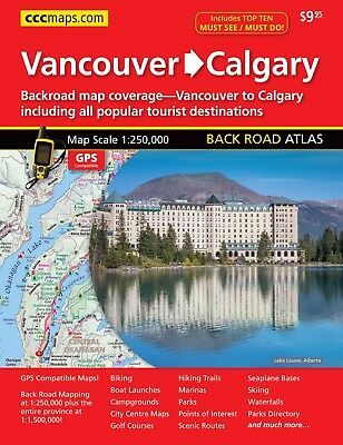 Vancouver To Calgary Back Road Atlas - FREE SHIPPING