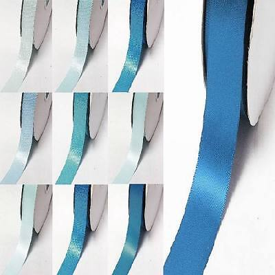 """by 5 Meters double faced satin ribbon 3/8"""" /9mm.lot blue s #303 to #350"""