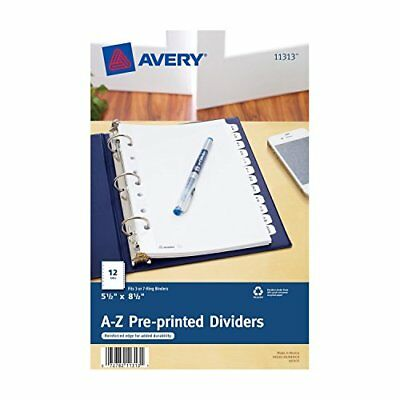 Avery Mini Preprinted Dividers with A-Z Tabs, 5.5 x 8.5-Inches, 12-Tab Set