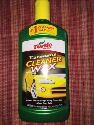 Turtle Wax T-6A Carnauba Cleaner Liquid Wax - 16 oz. 16 Ounces New