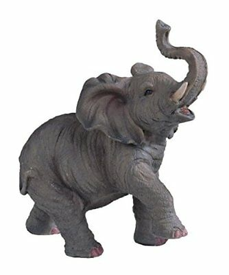 StealStreet SS-G-54135 Small Polyresin Elephant With Trunk Up Figurine Statue