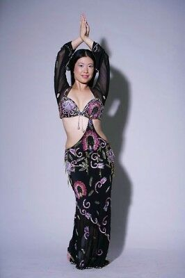 Professional Oriental Dance Costume, Belly dance Costume, Asymmetric Design