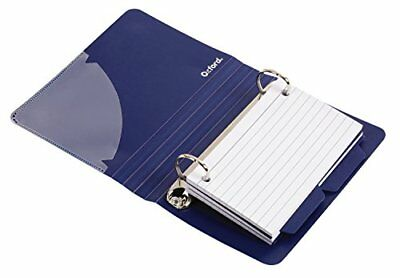 Oxford Poly Index Card Binder, 3 x 5 Inches, Color Will Vary, Includes 50