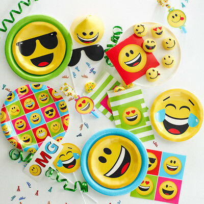 Bulk Emoji Birthday Party Supplies And Decorations