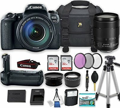 Canon EOS 77D DSLR Camera Bundle with Canon EF-S 18-135mm f/3.5-5.6 IS USM Lens