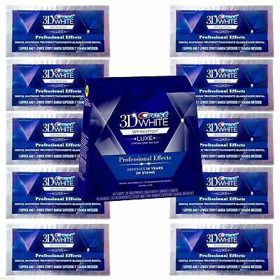 Crest3D Whitestrips Luxe Professional Effects (20 Strips 10 Pouches)