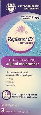 REPLENS MD 3 SINGLE PRE-FILLED APPLICATORS Vaginal Moisturiser Irritation