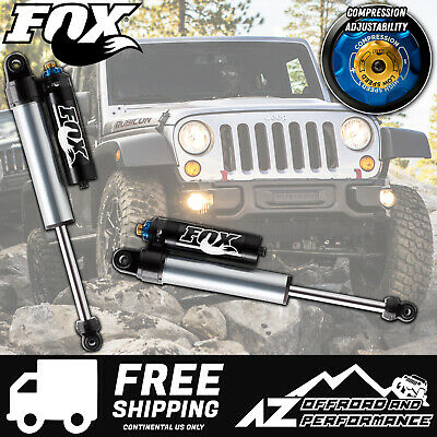 "Fox 2.5 Factory Series Front Reservoir Shocks w/ DSC 07-18 Jeep JK 0""- 2"" Lift"