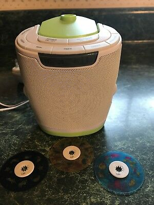 MyBaby Soundspa Lullaby Sound Machine Projector Homedics Baby Night Light Discs