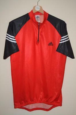 Retro Adidas Jan Ulrich Red & Black Cycling Jersey Mens Size 40/42