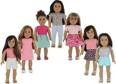 American Girl Doll Clothes Wardrobe Makeover- 7 Complete Outfits, Fits 18""