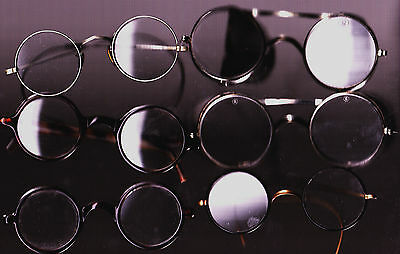 6 Pairs Vintage Steampunk/Industrial/Cable Wire Rimmed/Motorcycle Eyeglasses.