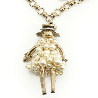708875543e3a Authentic Chanel Coco Mark Pearl Dress Doll Necklace Gold 14S Grade A Used  - At