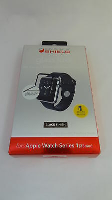 Zagg shield Glass Luxe HD Clarity Black For Apple watch Series 1 38mm Screen