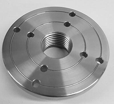 """4"""" Steel Wood Lathe Face Plate, 1-1/4"""" x 8tpi Threaded"""