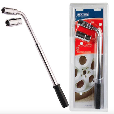 NEW Professional DRAPER EXTENDING WHEEL NUT WRENCH 17mm 19mm 21mm & 22mm Nuts