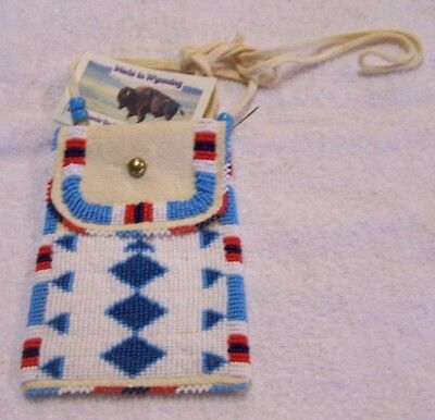 Hand Made Beaded Neck Pouch Rendezvous Black Powder Mountain Man 44