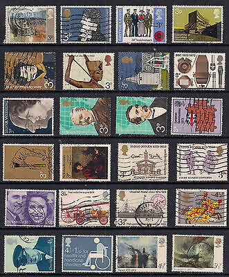 GB 1971 - 1975 QE2  24 x Commemoratives stamps.(R584 )