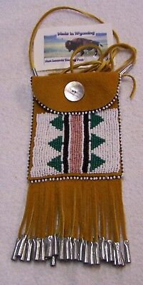 Hand Made Beaded Neck Pouch Rendezvous Black Powder Mountain Man 45
