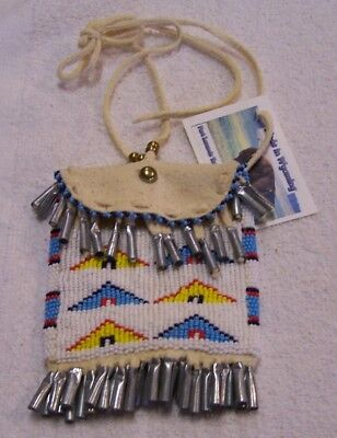 Hand Made Beaded Neck Pouch Rendezvous Black Powder Mountain Man 46
