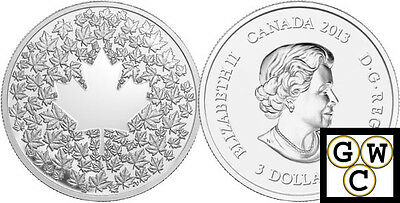2013 'Maple Leaf Impression' Proof $3 Silver Coin .9999 Fine (13225) (OOAK)