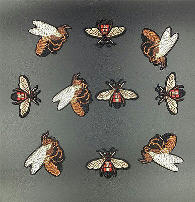 Quality Iron On Bee Patches 2 Designs Embroidered Applique Motifs Free P & P