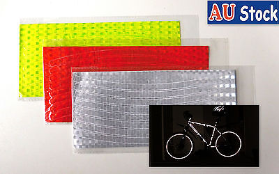 8/16 Pcs Bike Wheel Reflectors Bicycle Reflective Tape Decals  Rim PVC Stickers