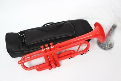 Plastic Red Tromba Trumpet With Bag & Stand