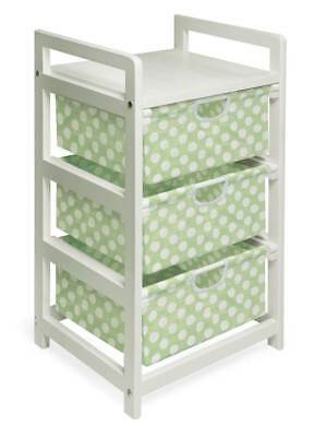 Badger Basket Hamper w Sage Polka Dots Drawers [ID 49818]