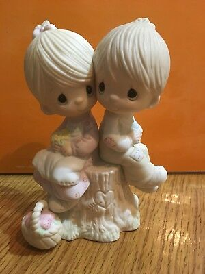 """Precious Moments Porcelain Figurine """"Love One Another""""  E-1376 Limited Edition"""