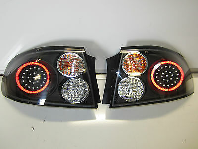 Holden Commodore Monaro Vt Vx Black Led Altezza Tail Lights Pair New