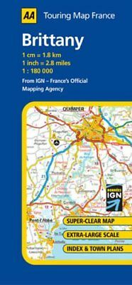 Brittany (AA Road Map France Series) Sheet map, folded Book The Cheap Fast Free