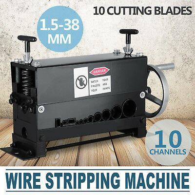 Copper Wire Stripping Machine Manual Stripper Scrap Copper 10 Cutting Blades