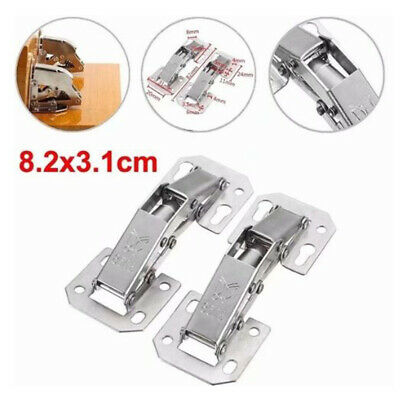 2Pcs 90 Degree Easy Mount Concealed Kitchen Cabinet Cupboard Sprung Door Hinges