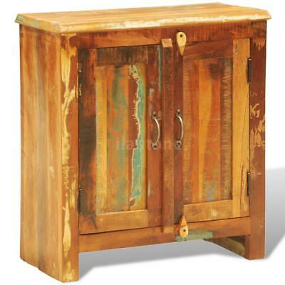 Reclaimed Wood Cabinet with Two Doors Vintage Antique-style K1I0