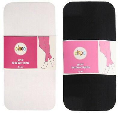 LOT OF 2 PAIRS - CIRCO Girls' Footless Tights - ALL SIZES - Hose Dress Pantyhose